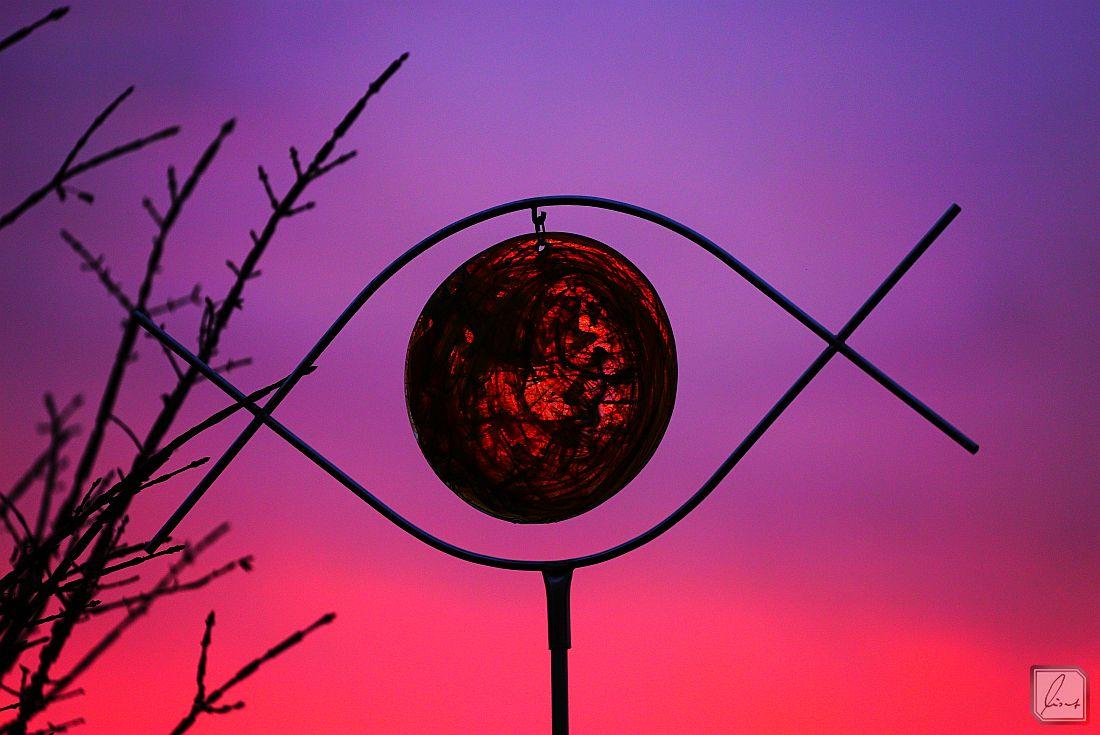 Unsere Morgensonne aus Glas
