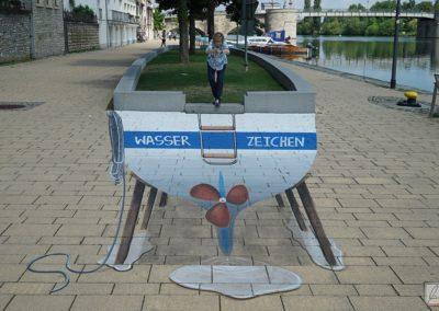 Straßenmalerei in Kitzingen