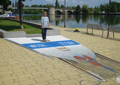 Straßenmalerei in Kitzingen - entzaubert
